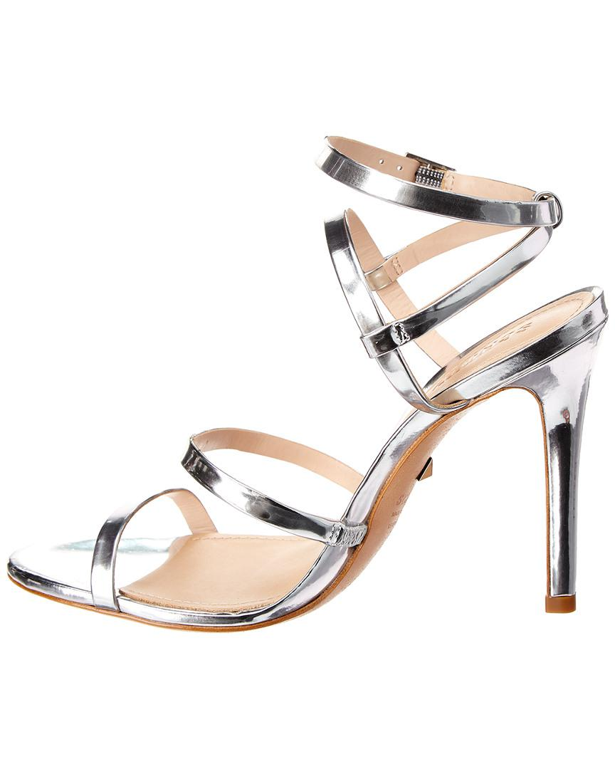 25b80e862eb1 Schutz Ilara Leather Sandal in Metallic - Save 33.33333333333333% - Lyst