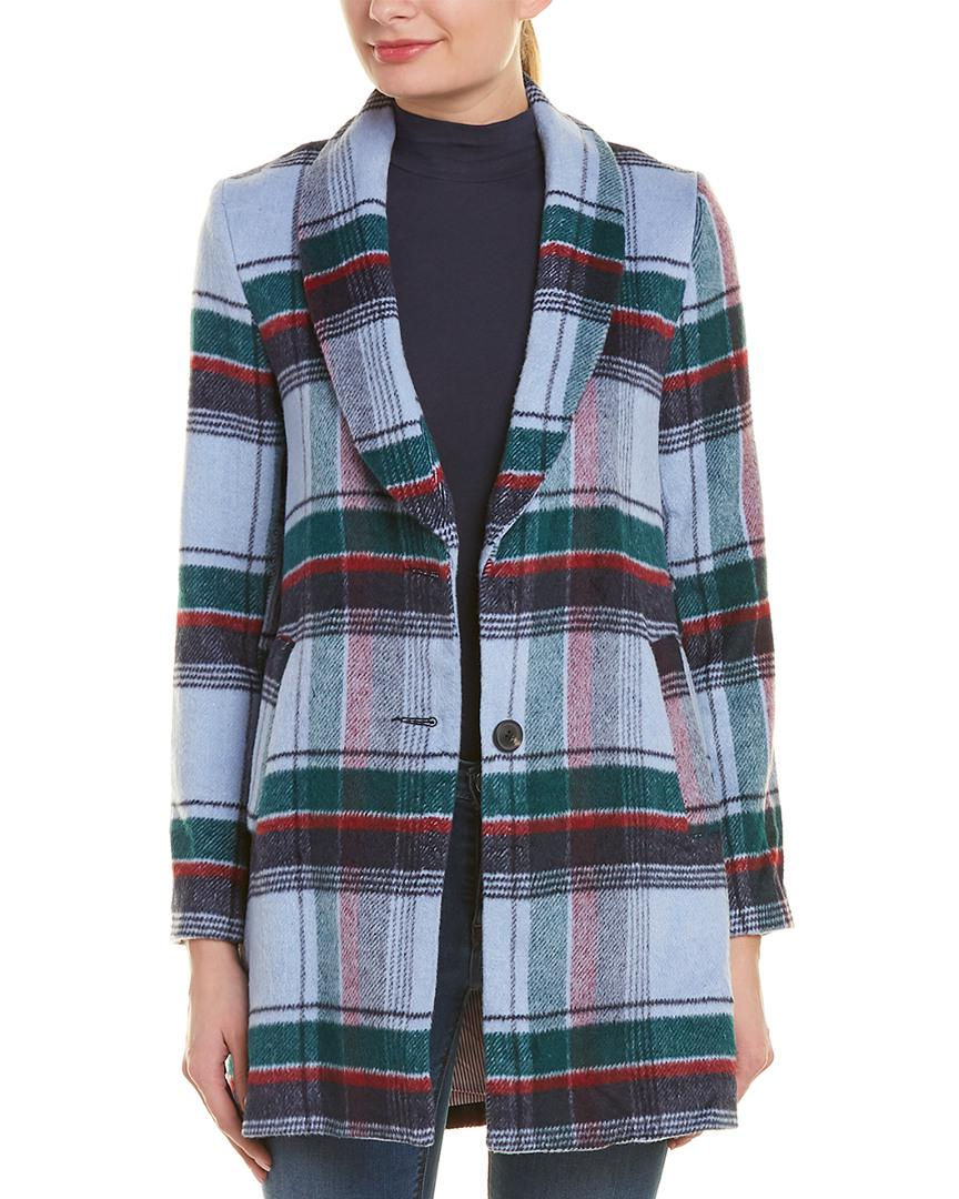 4172ae9f702 English Factory Plaid Wool-blend Coat in Green - Lyst