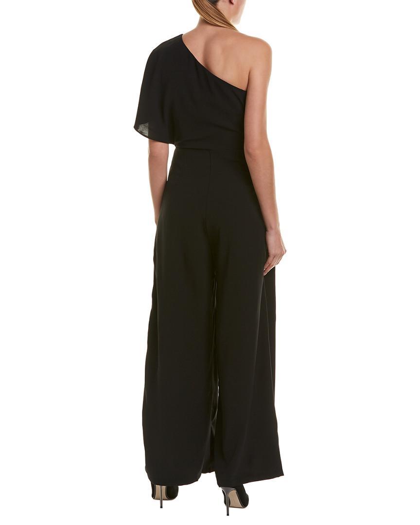 d0831cedd0d Lyst - Gracia One-shoulder Jumpsuit in Black - Save 56%