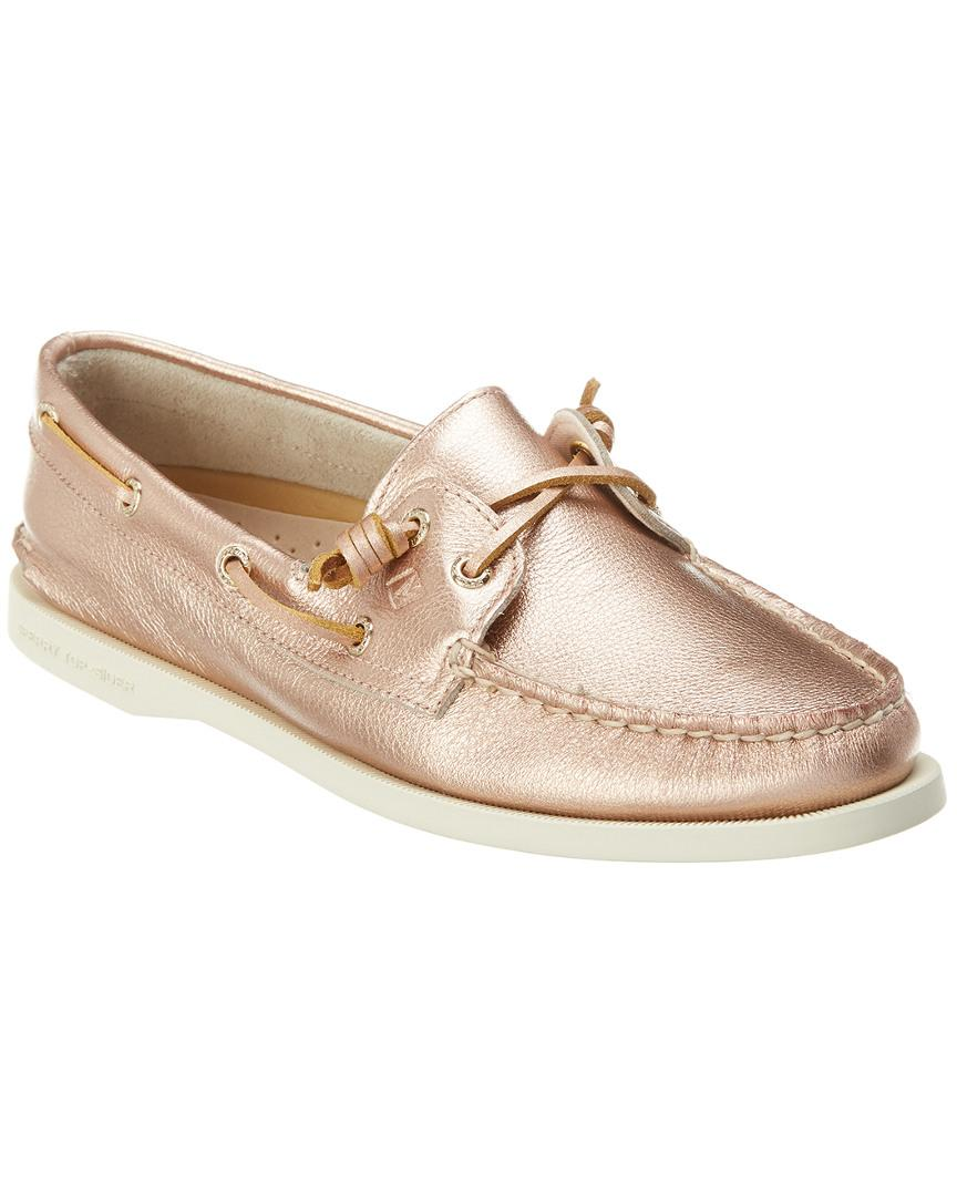 e01069ecde3 Lyst - Sperry Top-Sider Vida Leather Boat Shoe in Pink
