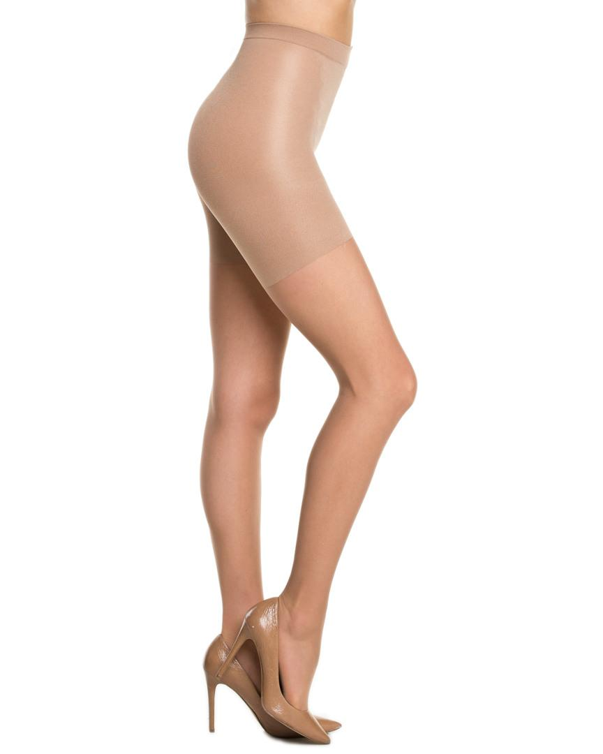 f9146225e Lyst - Spanx   All The Way Pack Of 2 Sheer Nude Pantyhose in Natural - Save  24%