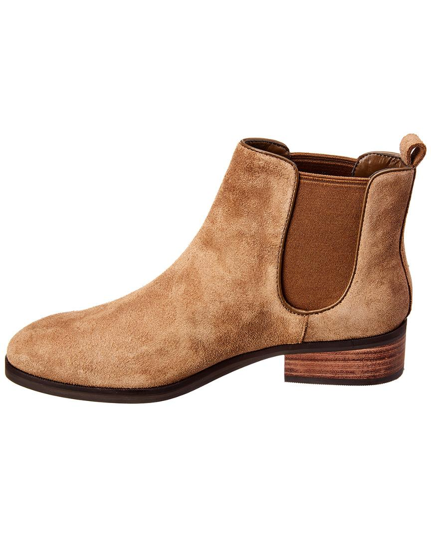 a506991c58a Cole Haan Landsman Chelsea Suede Bootie in Brown - Save 16% - Lyst