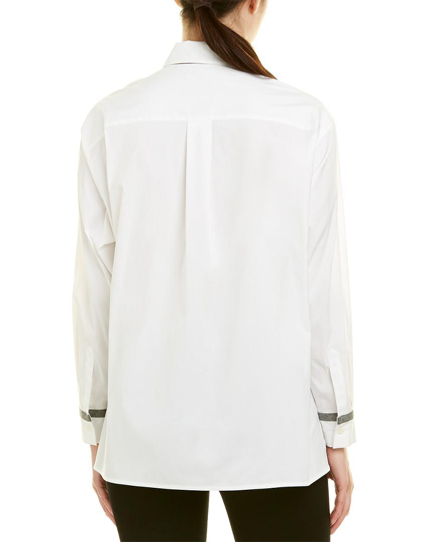 309f871affe26 Lafayette 148 New York Petite Jessie Blouse in White - Lyst