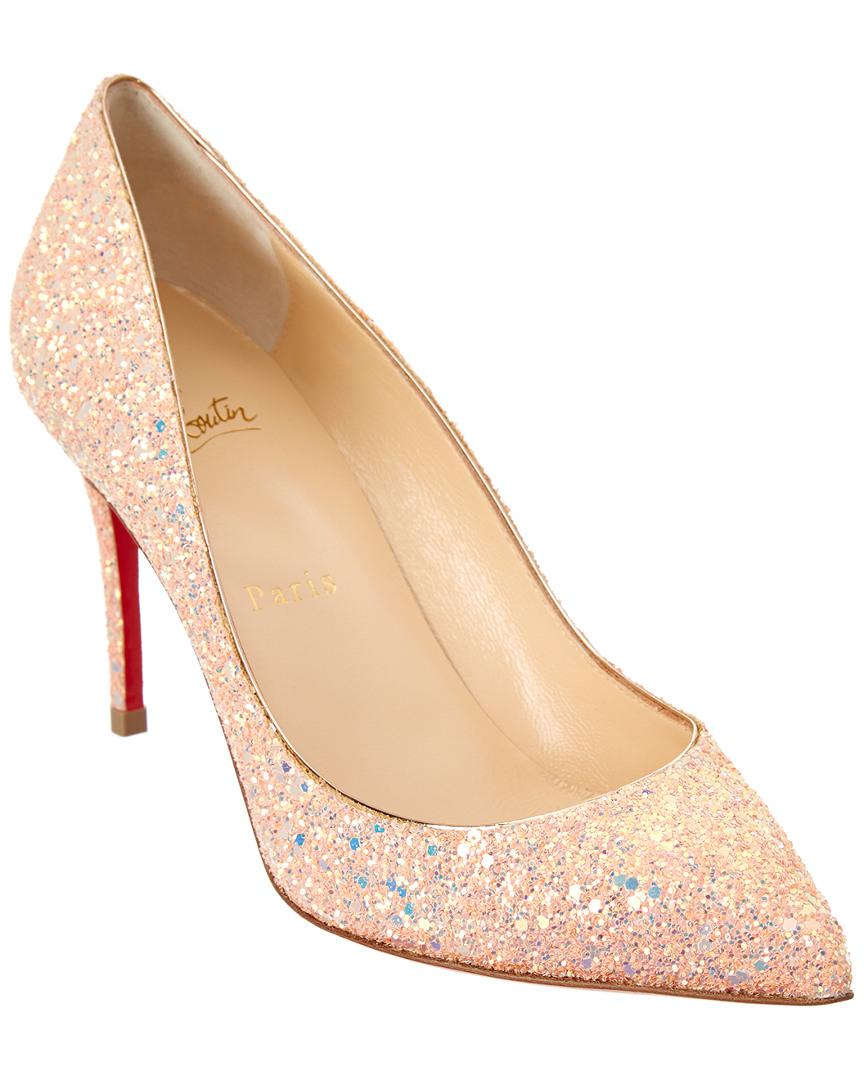 6522e4a8dfd1 Lyst - Christian Louboutin Pigalle Follies 85 Glitter Pump in Pink