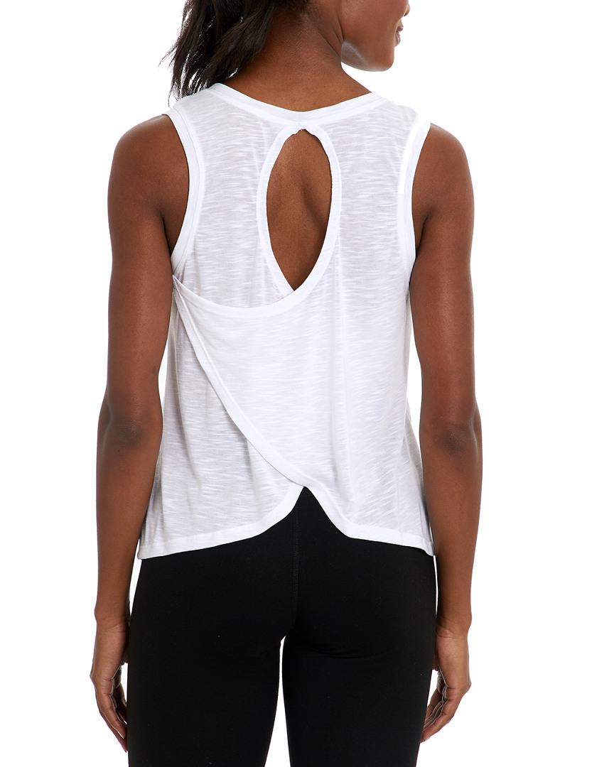 7968bd1e5354cb Balance Collection Canyon Singlet in White - Lyst