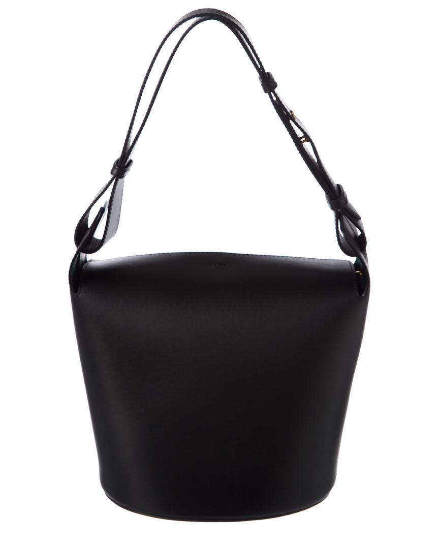 Burberry Medium Leather Bucket Bag in Black - Lyst d21199ceffa7c
