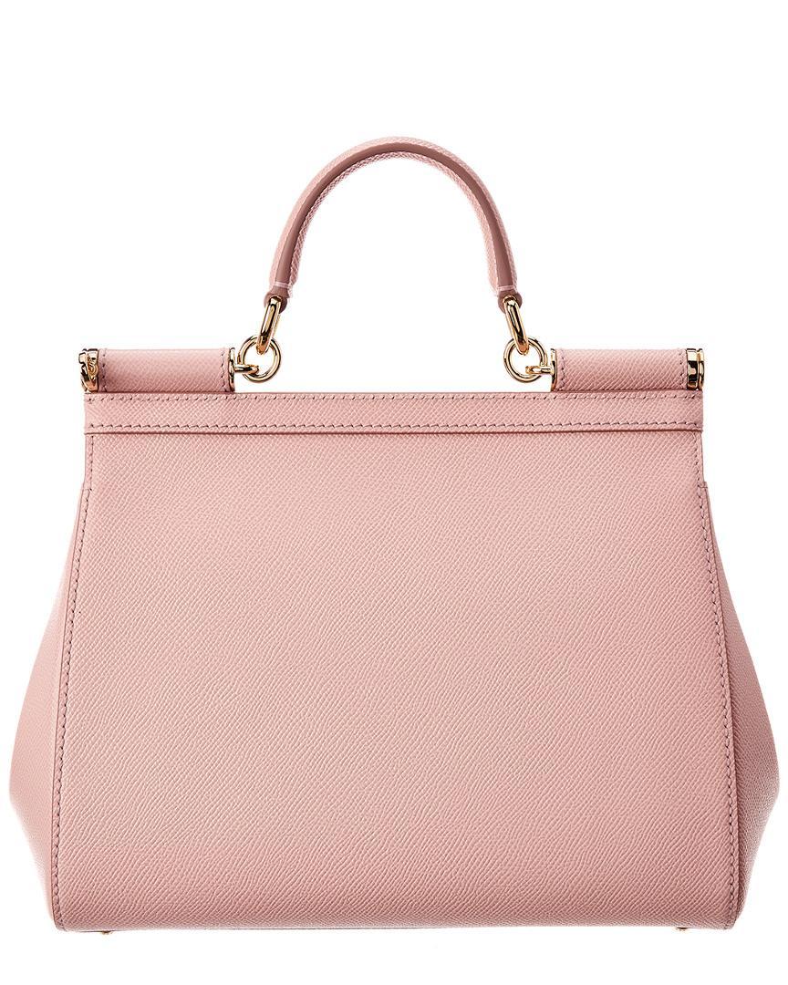 5d554bad233 Dolce   Gabbana Miss Sicily Medium Shoulder Bag in Pink - Save 30% - Lyst