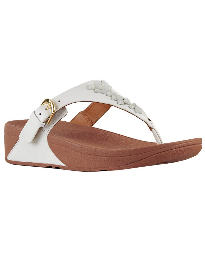 8d30c37df Lyst - Fitflop Skinny Toe-thong Leather Sandal - Save 50%