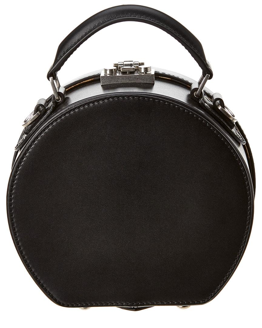 Lyst - Saint Laurent Mica Hatbox Small Leather Shoulder Bag in Black bba1f6bdef729