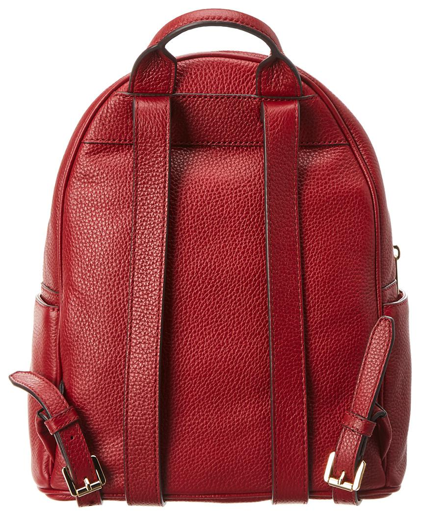 788538419615 MICHAEL Michael Kors Michael Kors Abbey Medium Frame Out Studded Leather  Backpack in Red - Lyst