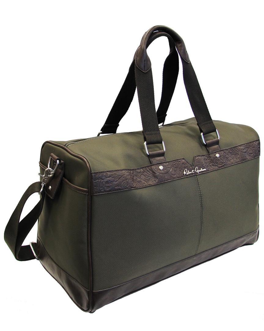 Lyst - Robert Graham Olivetti Duffle Bag in Green for Men 4be1e259cd02c