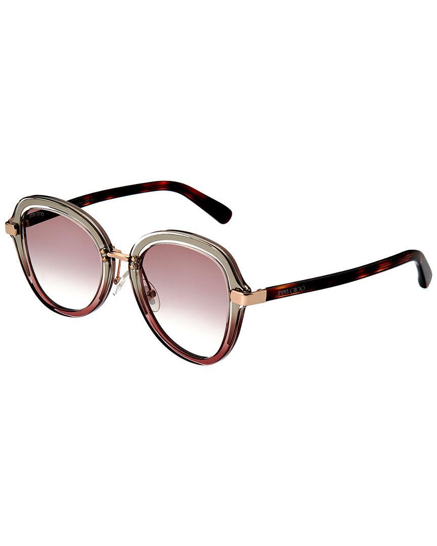 190bc8904f2 Lyst - Jimmy Choo Dree 541mm Sunglasses - Save 26.455026455026456%