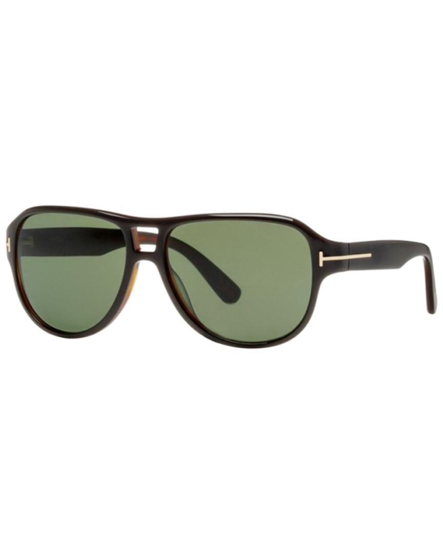 d490bb1b5e67 Lyst - Tom Ford Dylan 57mm Sunglasses in Green for Men
