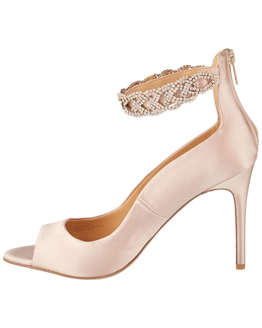 b4c8608cdc4d Lyst - Badgley Mischka Alanis Pump in Natural - Save 51%