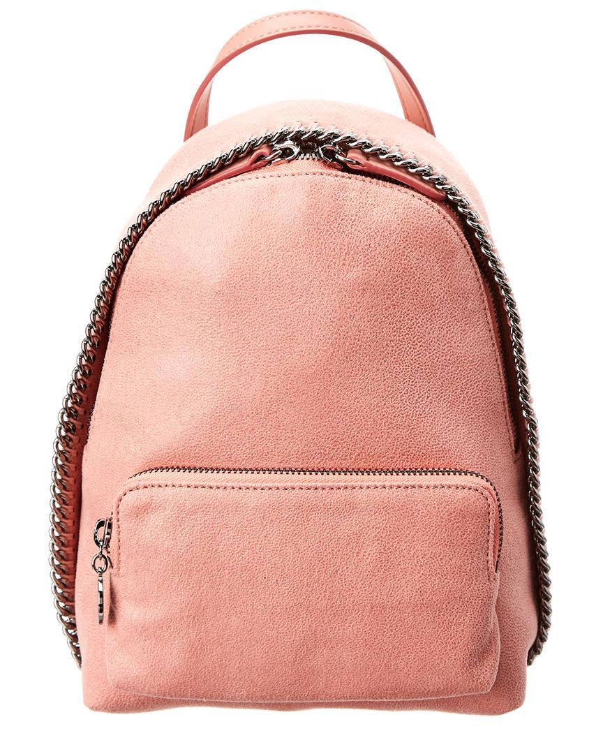 561e7f42ff0d Stella McCartney Mini Falabella Shaggy Deer Backpack in Pink - Save ...