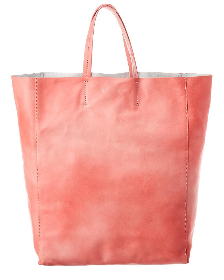 b9a5ce1932 Lyst - Céline Cabas Leather Tote in Pink