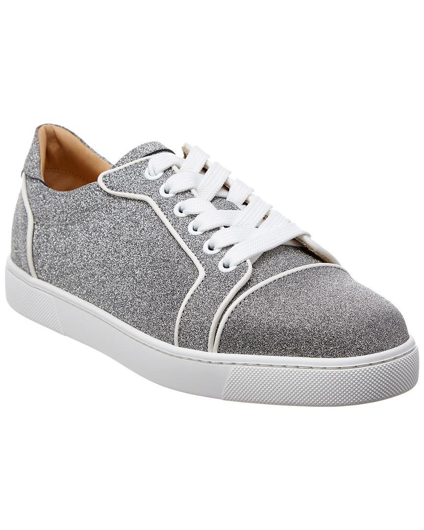 8e1d88079a13 Lyst - Christian Louboutin Vieira Glitter Sneaker in Metallic