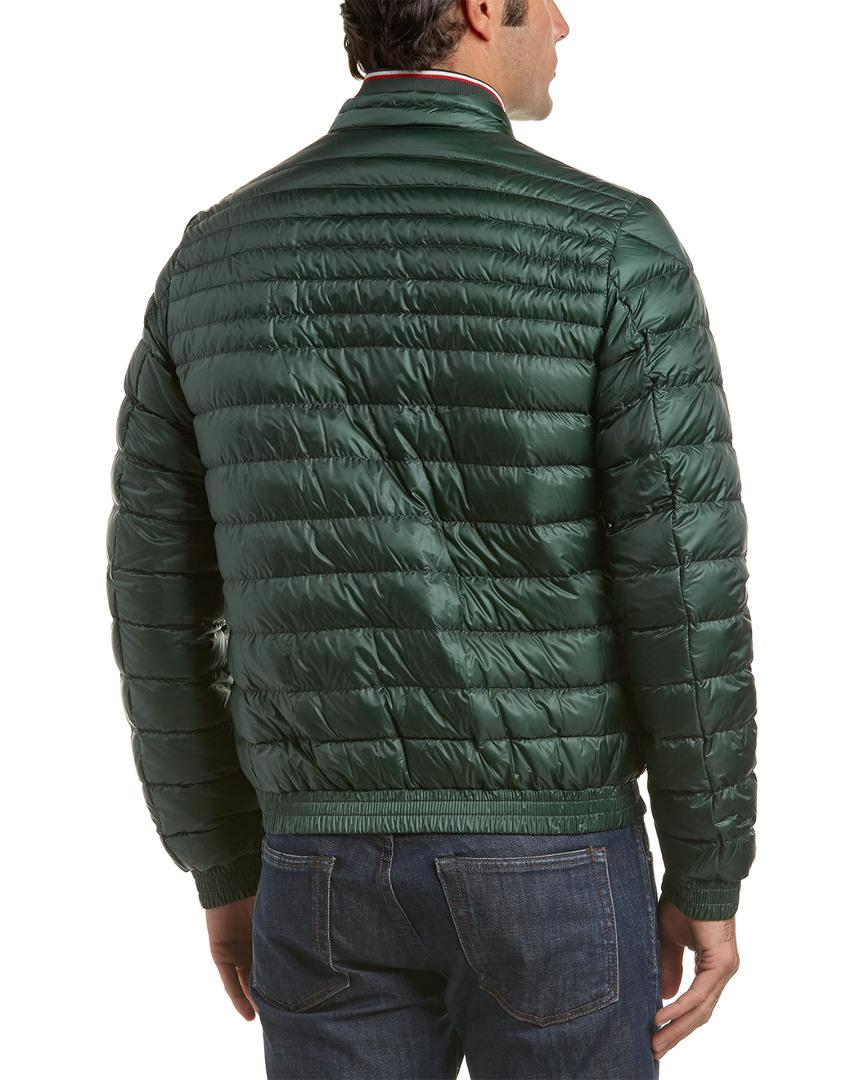 2ee153ab2 Lyst - Moncler Garin Quilted Down Bomber Jacket in Green for Men