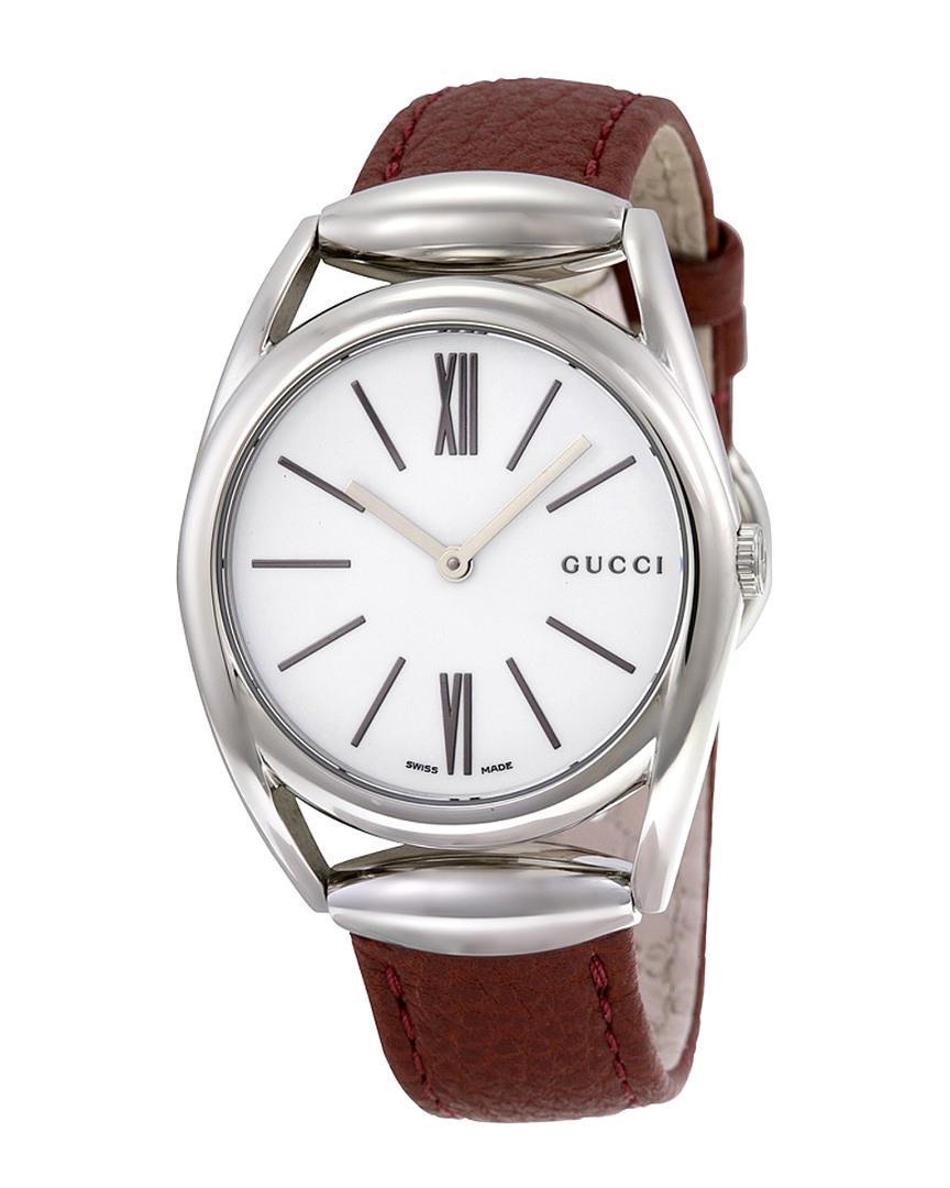 36cf5034b60 Lyst - Gucci Women s Leather Watch in Metallic
