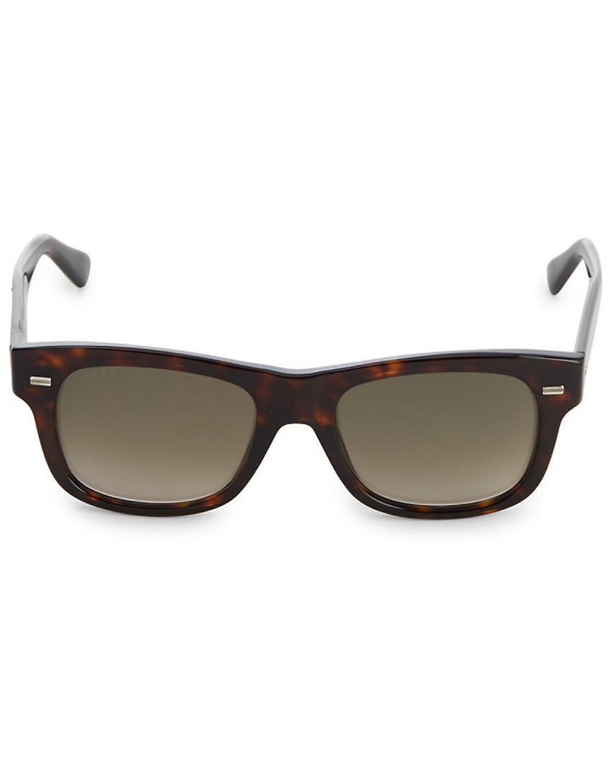 e3f7abae9c09b Lyst - Gucci Havana 52mm Tortoiseshell Square Sunglasses in Brown for Men