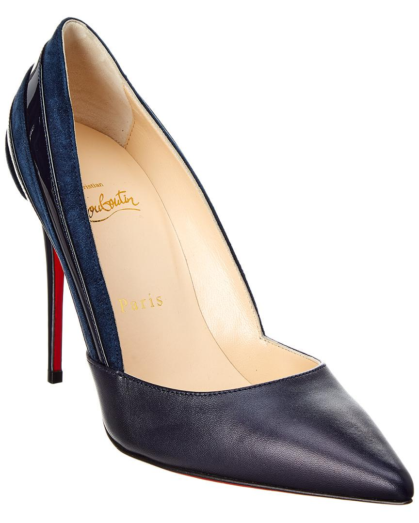 0475eb96286 Christian Louboutin Super 100 Mix Media Pump in Blue - Lyst