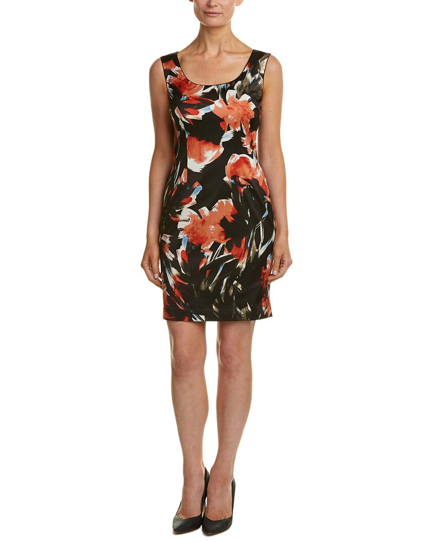 436c4aee Lyst - Lafayette 148 New York Petite Rebecca Sheath Dress in Black ...