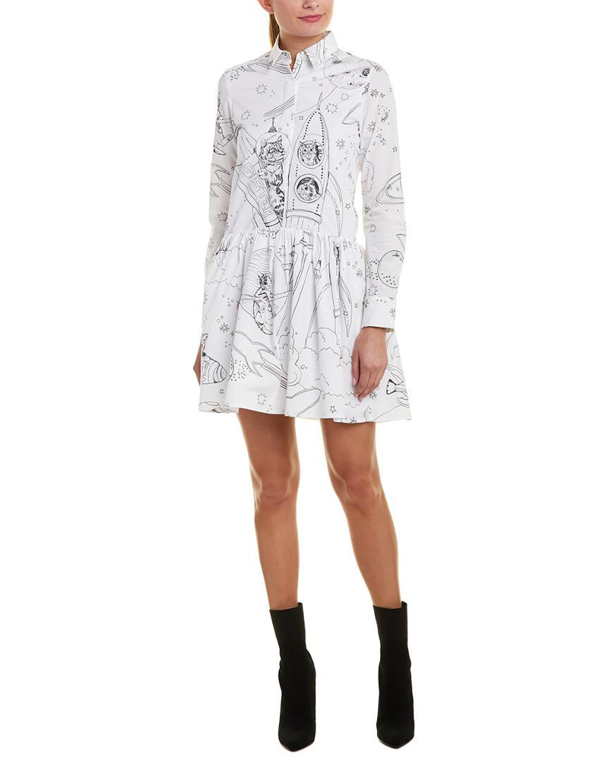 52fd0b9d24 Paul   Joe Kitty In Space A-line Dress in White - Save 10% - Lyst