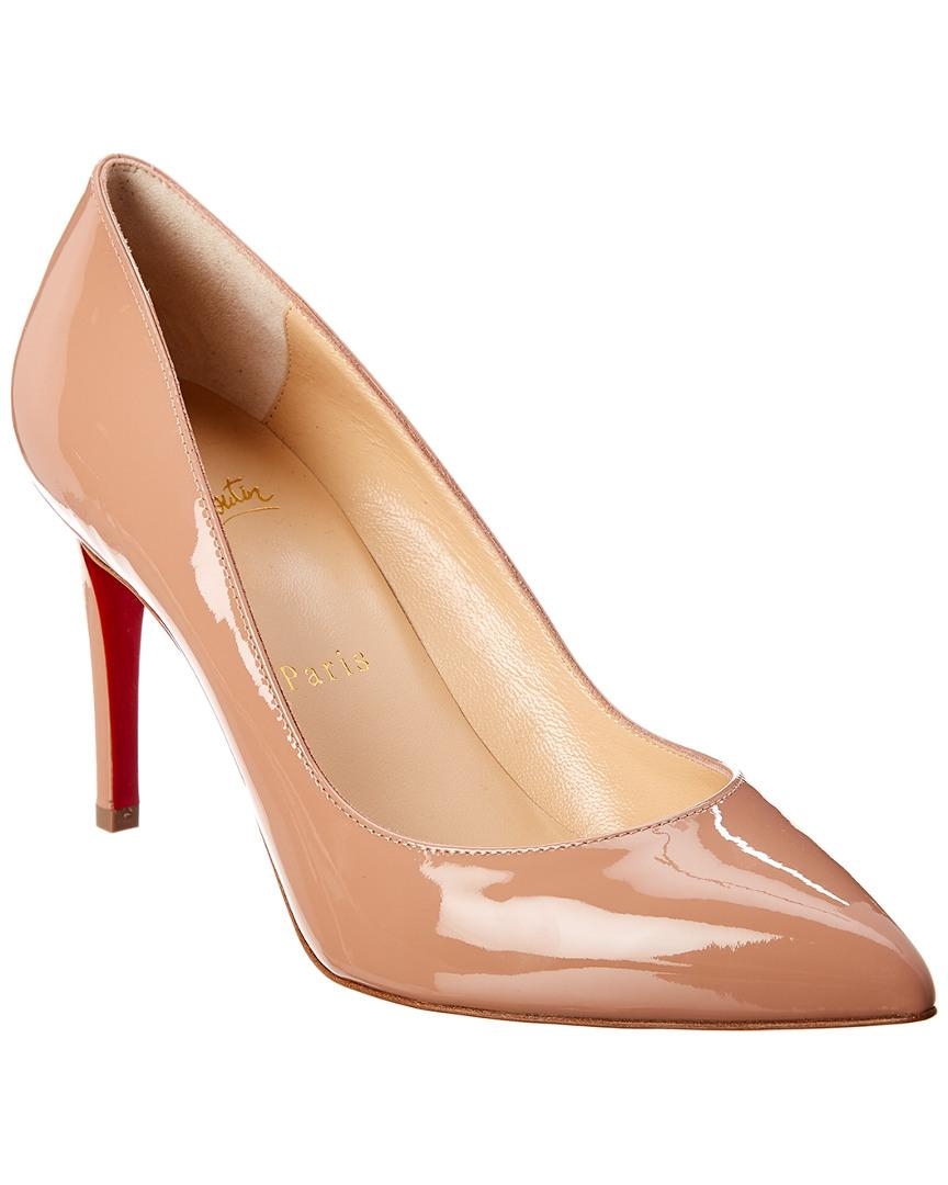 54e8c0c4c6 Lyst - Christian Louboutin Pigalle Follies 85 Patent Pump in Natural