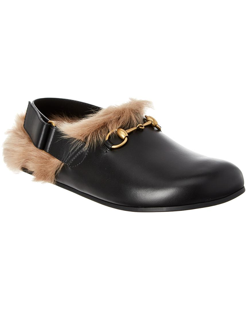 1a970e1dd202 Lyst - Gucci Horsebit Slipper in Black for Men