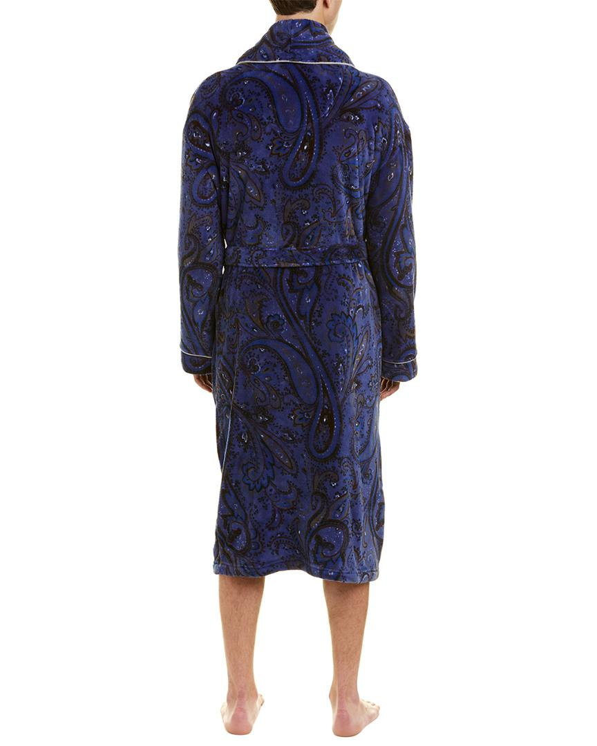 69e9a02a2d Lyst - Robert Graham Twilight Zone Plush Fleece Robe in Blue for Men