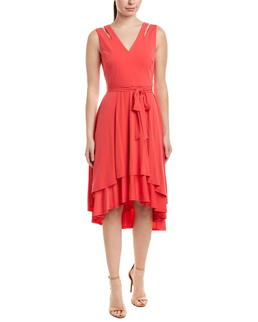 86ab4986171 Lyst - Vince Camuto Midi Dress in Red