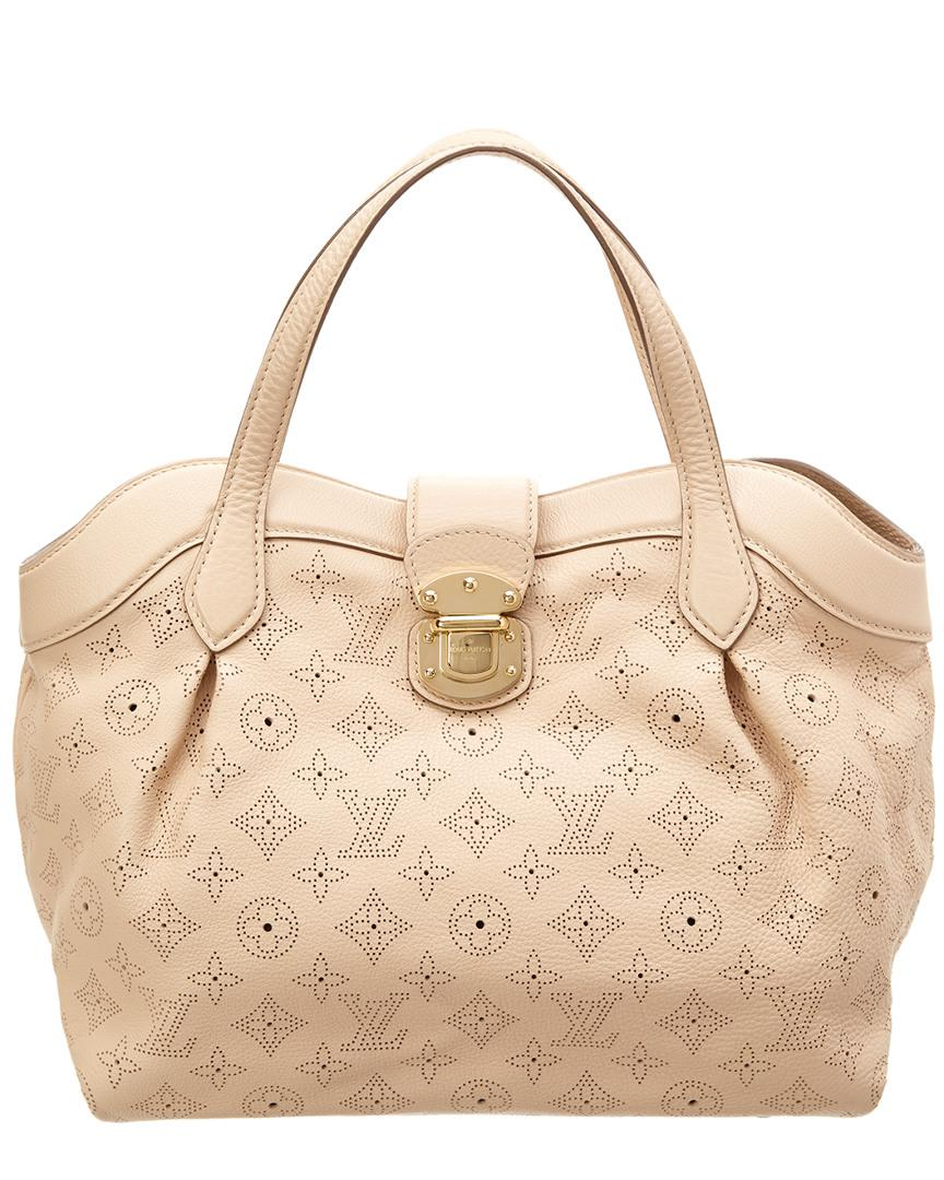 Lyst - Louis Vuitton Beige Mahina Leather Cirrus Pm in Natural e2dcfed948178