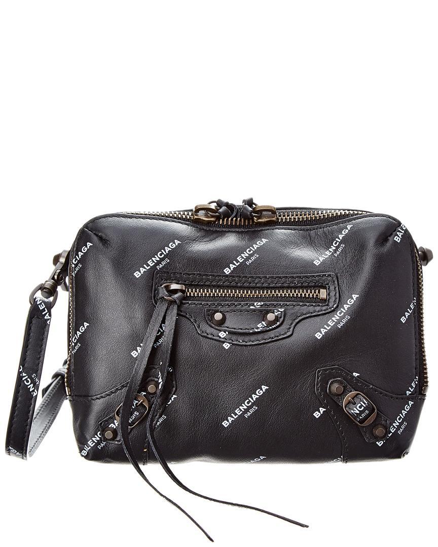 cd406bcc41f52 Balenciaga - Black Classic Reporter Logo Xs Leather Crossbody - Lyst. View  fullscreen