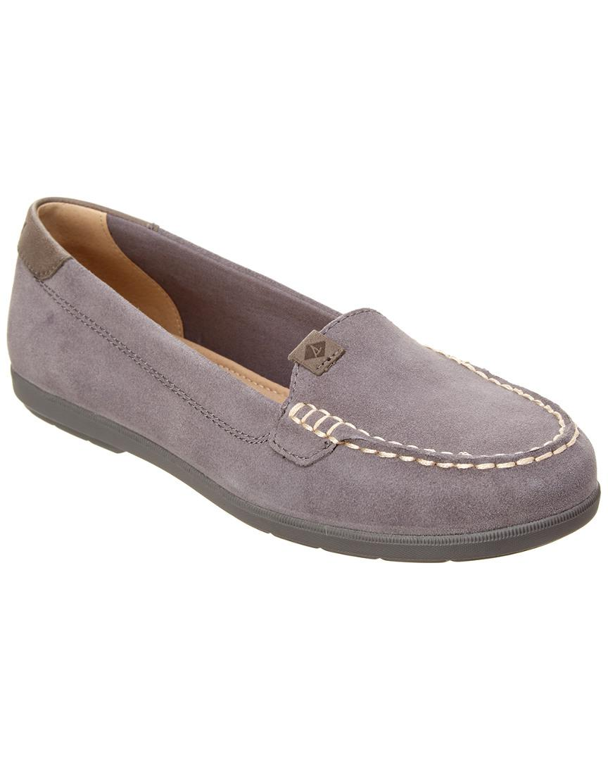 254f302f715 Lyst - Sperry Top-Sider Women s Coil Mia Suede Boat Shoe in Gray