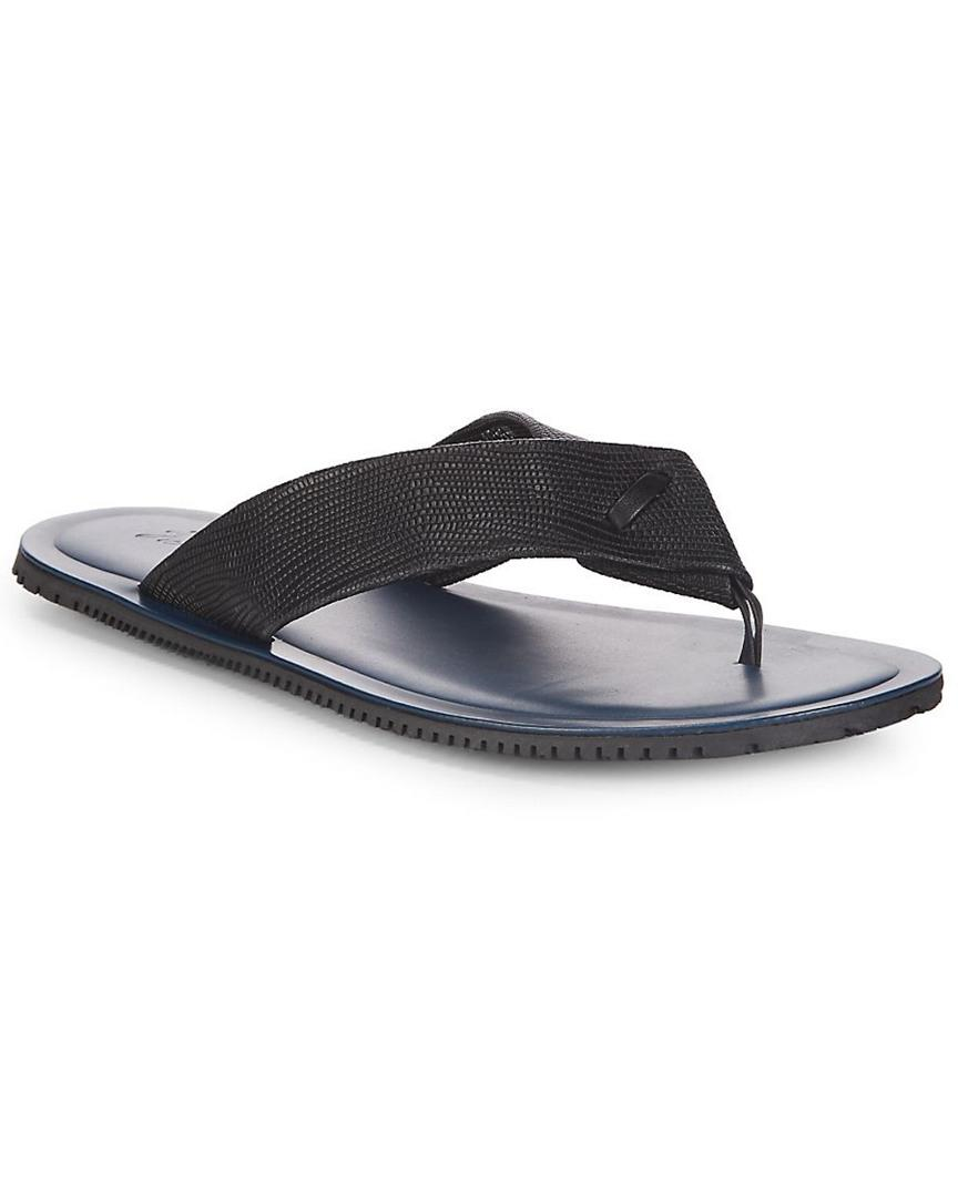 fee9bf057814 Lyst - Massimo Matteo Classic Leather Thong Sandal in Black for Men