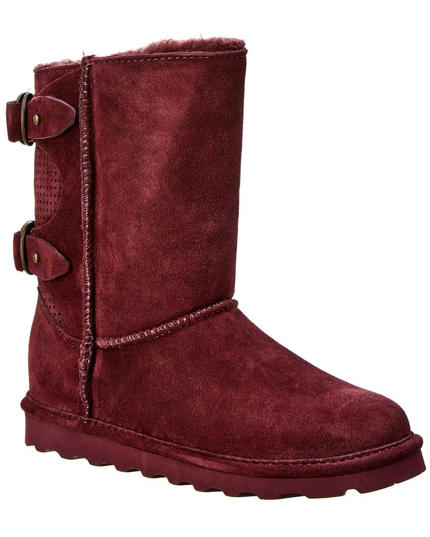 6fb715859a79 Lyst - BEARPAW Clara Never Wet Water-resistant Suede Boot in Purple ...