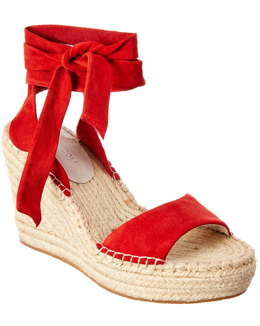 a9a775ca794 Kenneth Cole Odile Espadrille Wedge in Red - Lyst