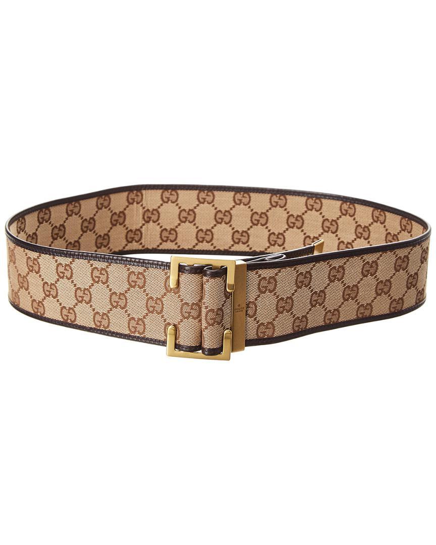 eea80576e2e Lyst - Gucci Brown Gg Supreme Canvas Belt in Brown