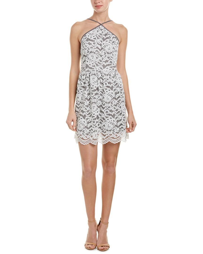 Kensie dress sleeveless colorblock lace a-line