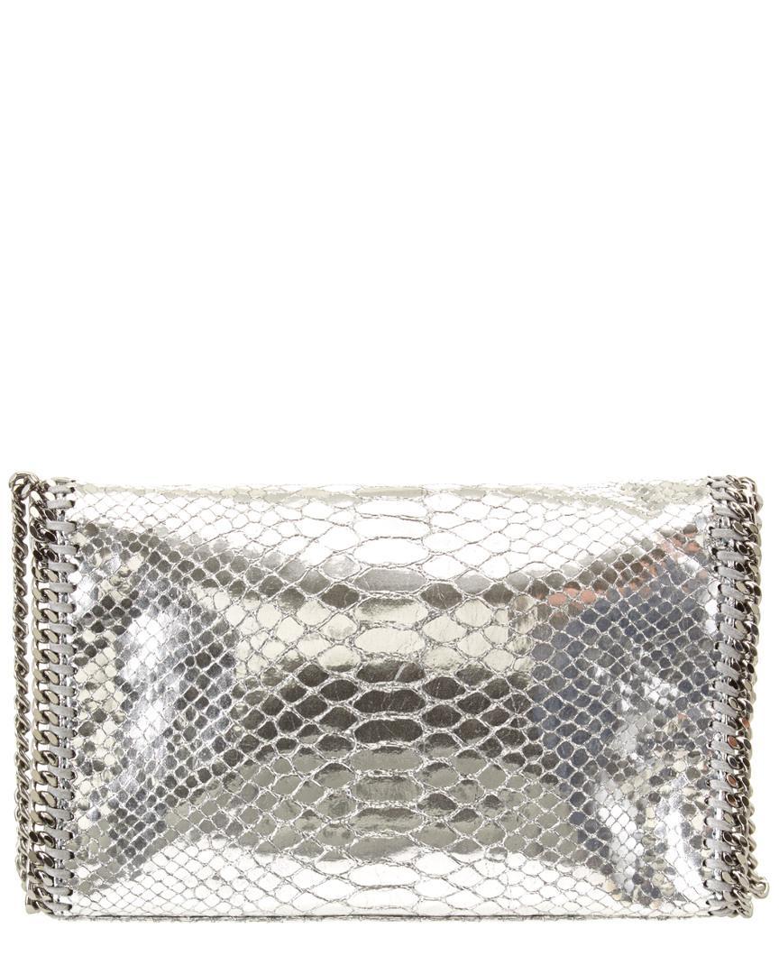 fe167b4497dd Lyst - Stella Mccartney Falabella Metallic Alter Snake Mini Bag in Metallic