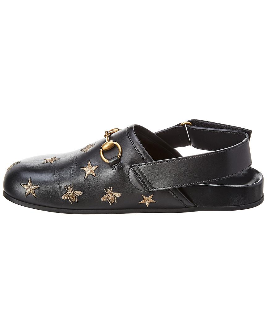 0f8f32b8c469 Lyst - Gucci Horsebit Embroidered Sandal in Black for Men - Save 43%