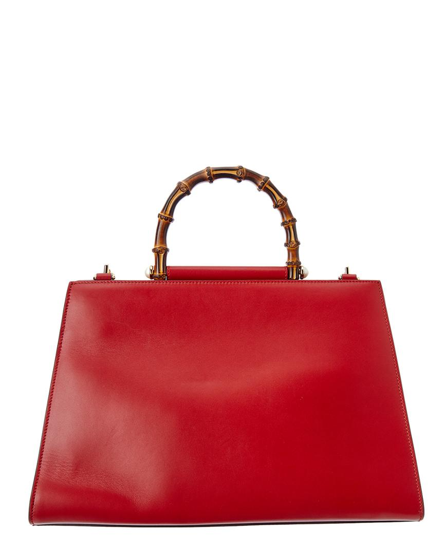 b5a518986f3 Lyst - Gucci Nymphaea Large Leather Top Handle Satchel
