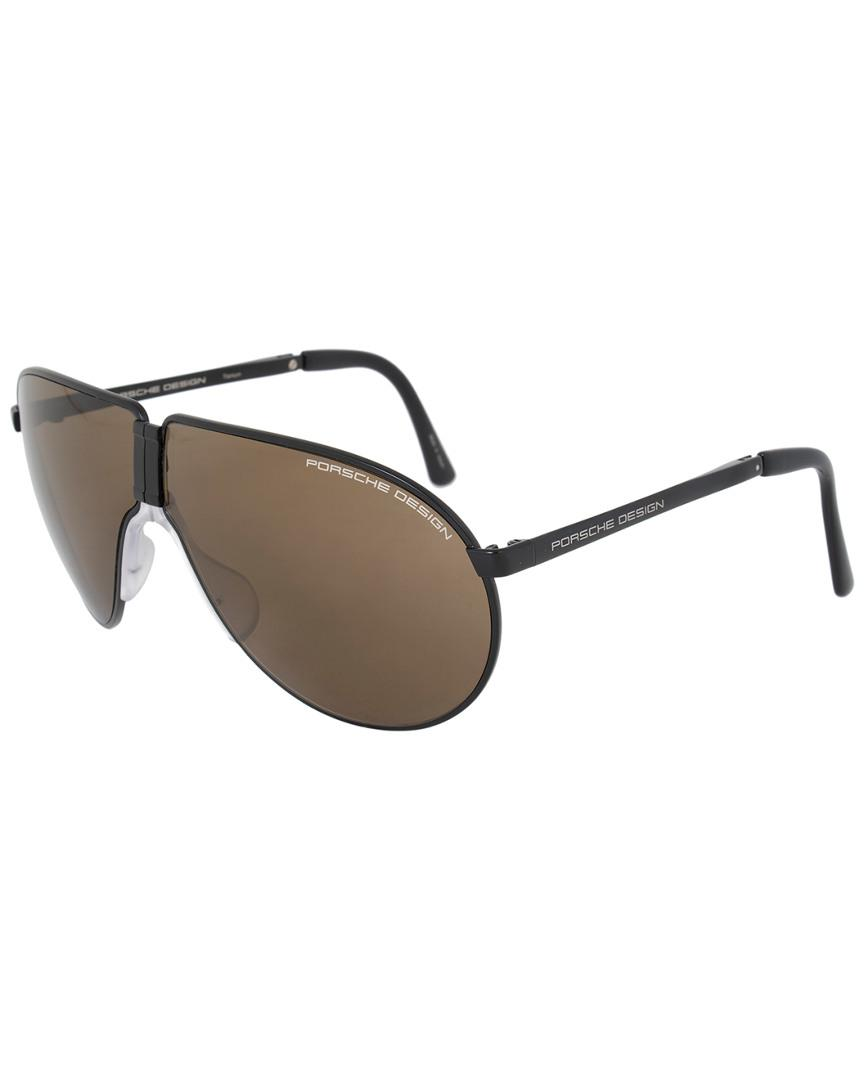 98903ff037a3 Lyst - Porsche Design Unisex P8480 C 66mm Folding Sunglasses for Men