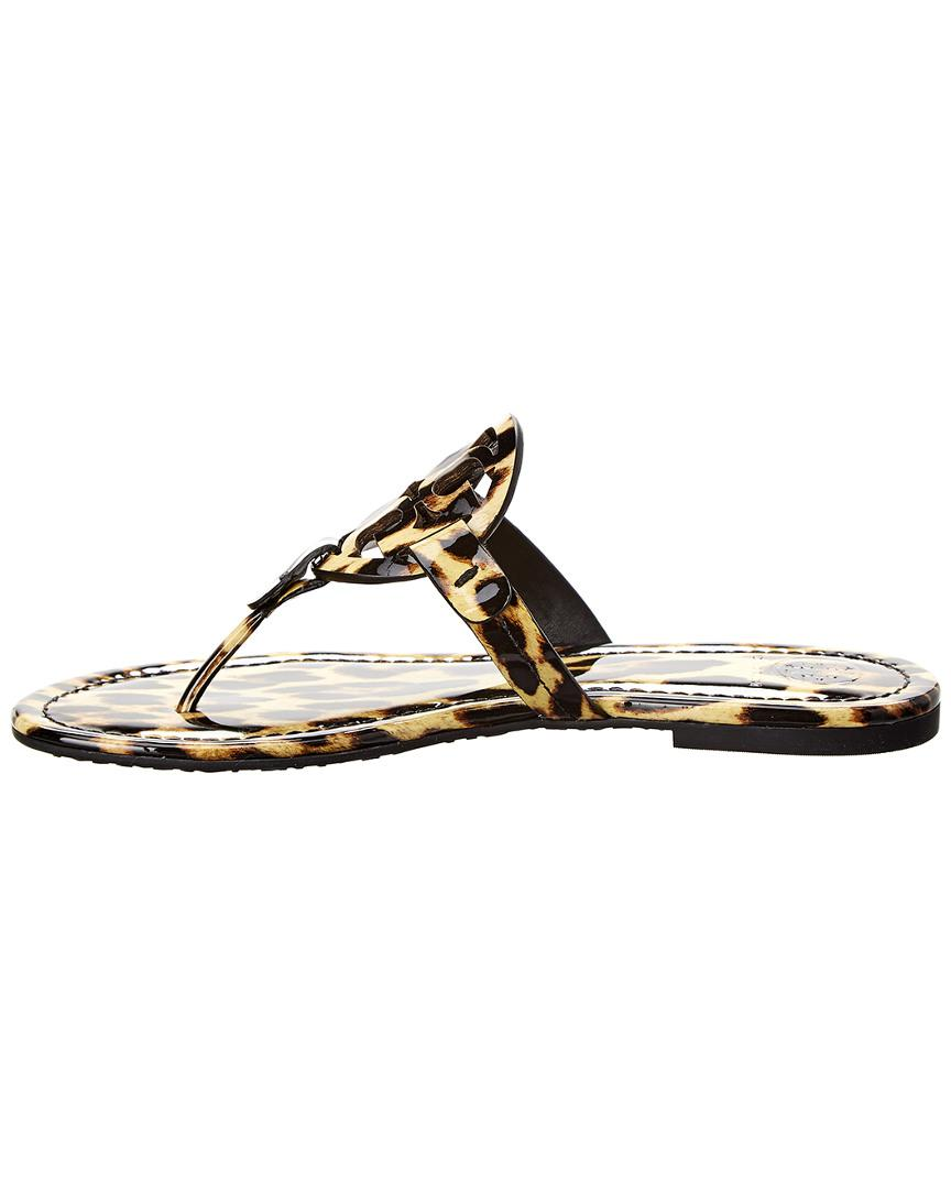 836582b56 Tory Burch Miller Patent Sandal in Brown - Lyst