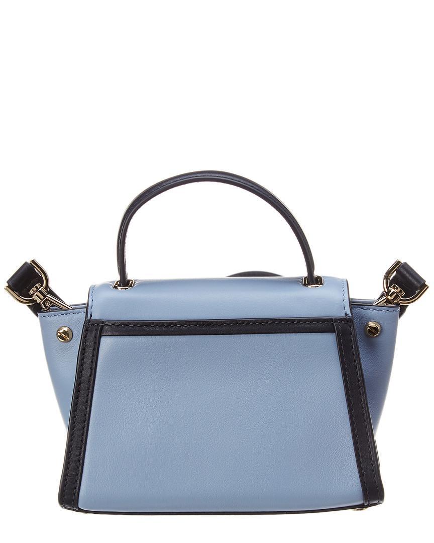 e14875d337215b ... Blue Michael Kors Whitney Mini Leather Messenger - Lyst. View fullscreen