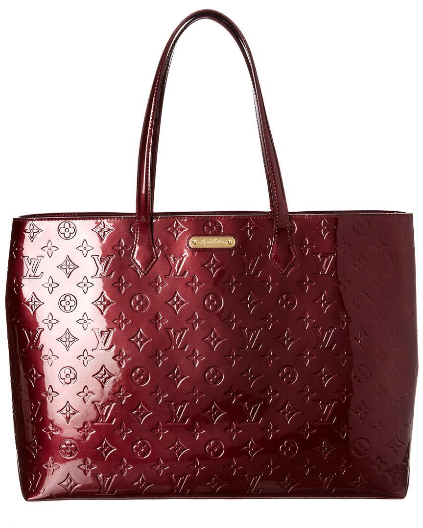 82b8473a1493 Louis Vuitton Purple Monogram Vernis Leather Wilshire Gm - Lyst