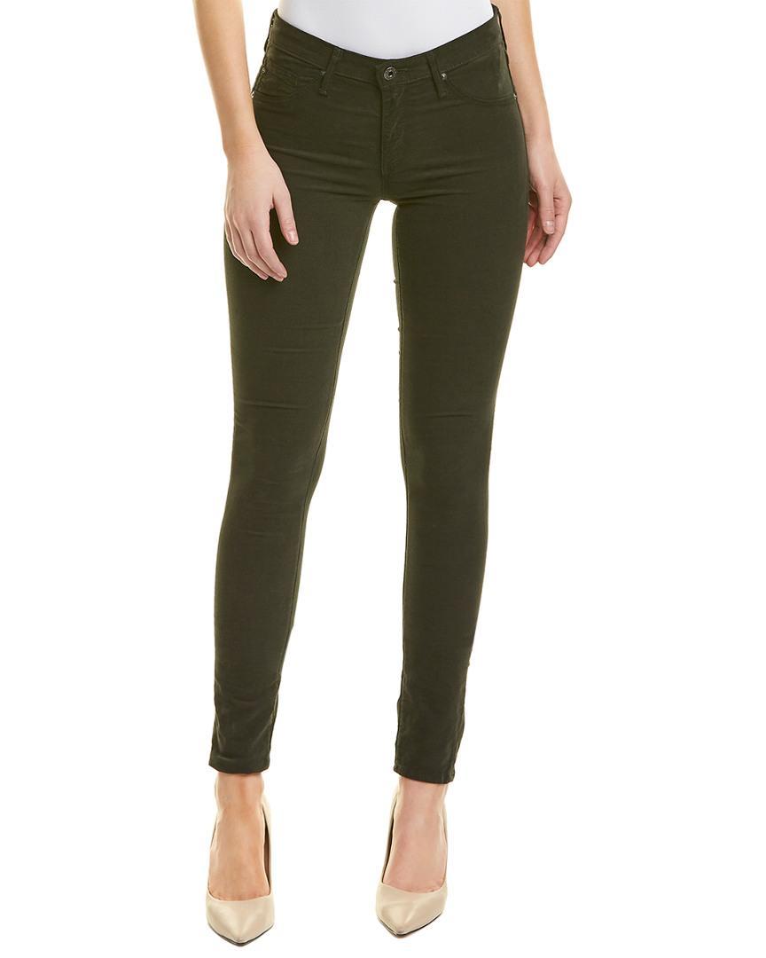 c4bd4f29abec2 Lyst - AG Jeans The Legging Climbing Ivy Super Skinny Leg in Green ...