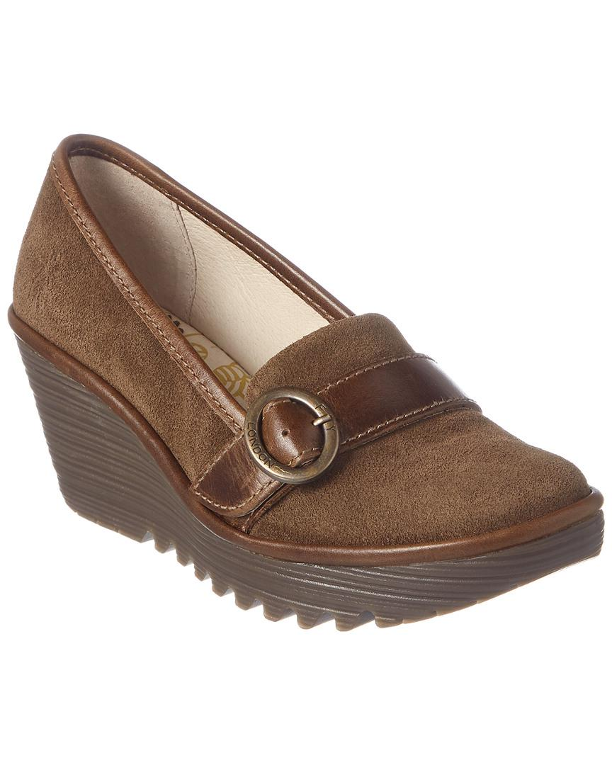 05e5f3ead15 Lyst - Fly London Yond Suede Wedge in Brown - Save 21.73913043478261%