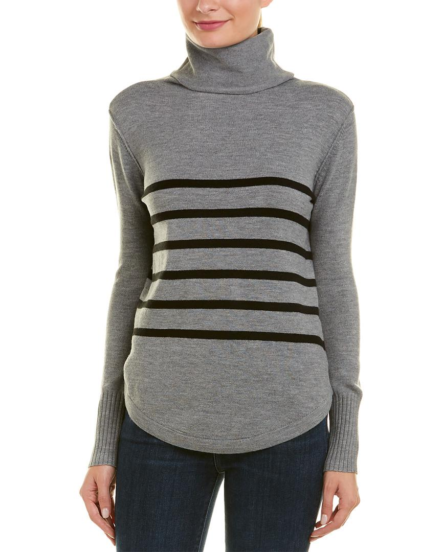 540561fa9c4e30 Lyst - French Connection Babysoft Stripe Top in Gray - Save 30%