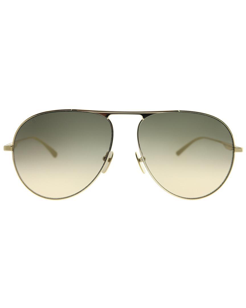 2a53d02a9e4 Gucci Pilot 60mm Sunglasses for Men - Lyst